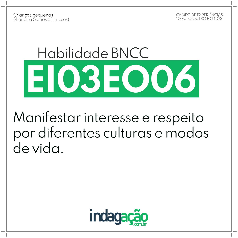 Habilidade EI03EO06 BNCC