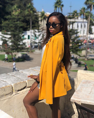 Photos;#BBNaija's Bambam enjoys vacation in Morocco