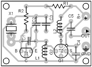 Parts-Placement-Layout-48-MHz-Clock-Generator