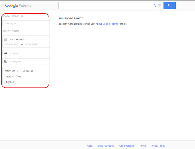 Google Patents search guide