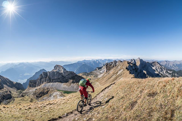 Enduro Abfahrt Rofanspitze Mountainbike