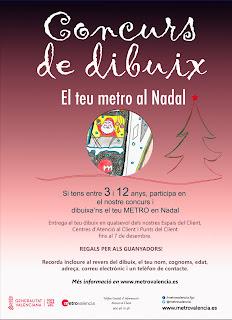 FGV abre el plazo de presentación para el concurso infantil de dibujo 'El teu metro al Nadal'