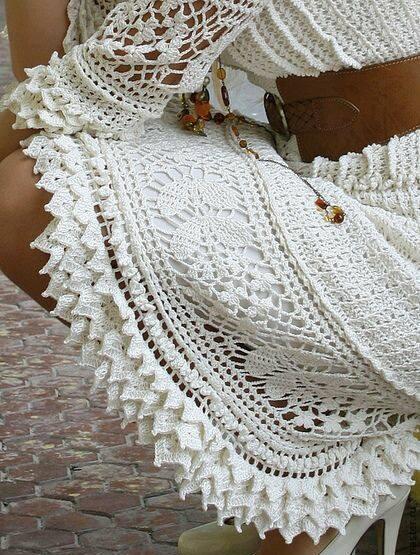 wzor sukienki szydelkowej