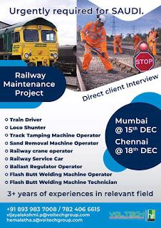 Railway Maintenance Project in Saudi Arabia