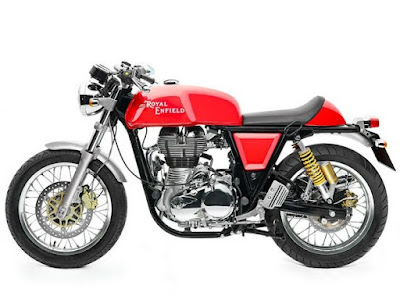 Royal Enfield Continental GT Red colour side look