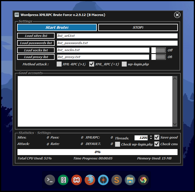 Brute XMLRPC 2.9.16