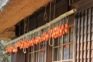 軒下に干柿