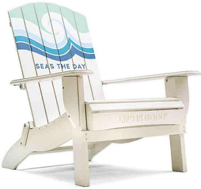 Seas the Day Adirondack Chair Painted with Quote