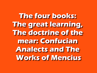 The four books: The great learning,