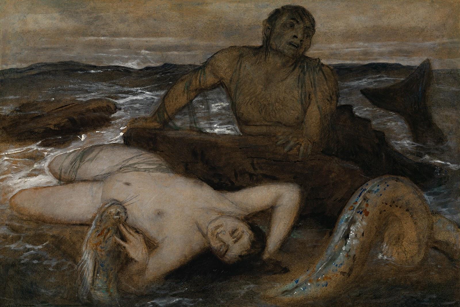 Arnold   ocklin  Triton  und  Nereide