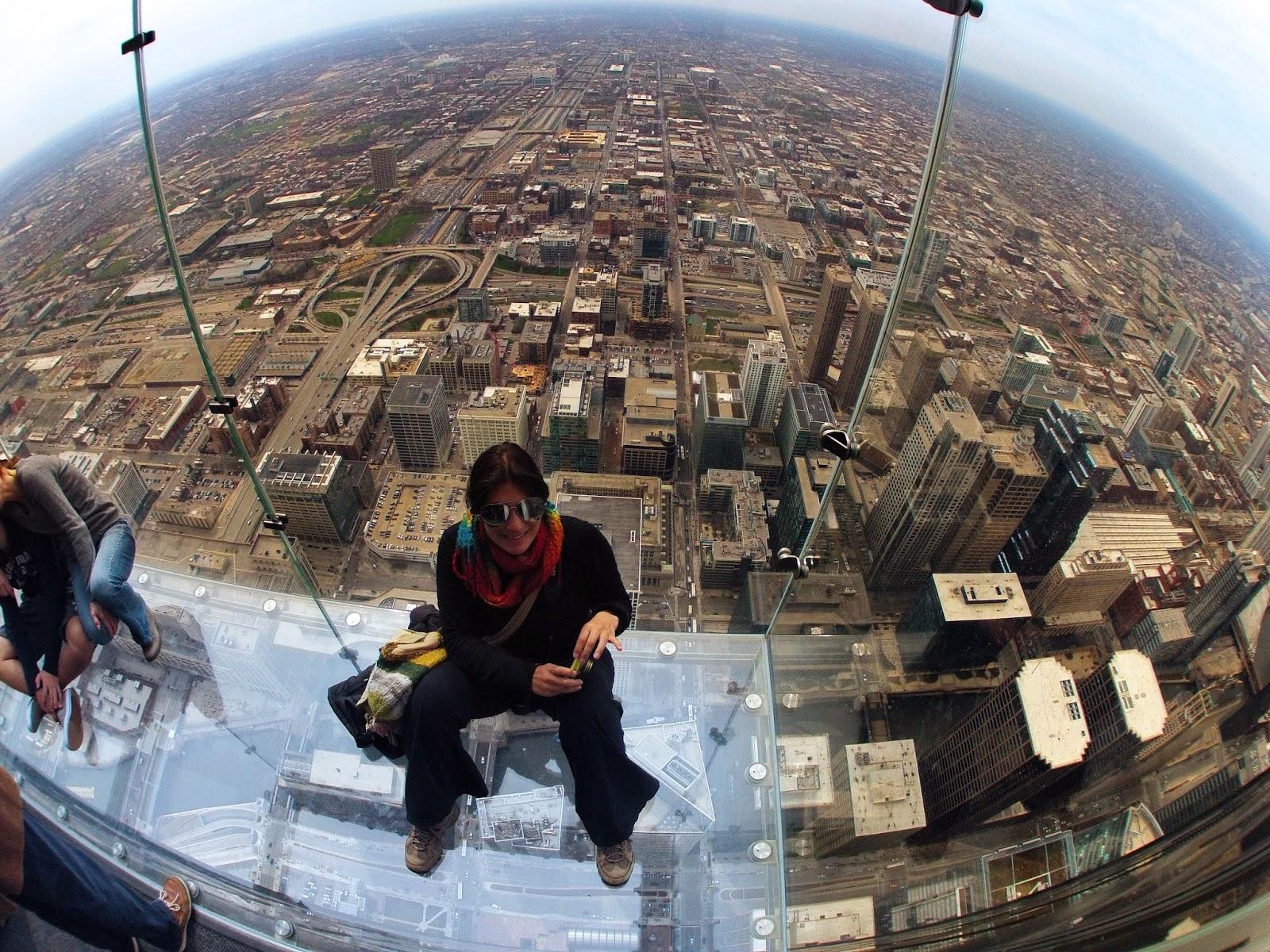 Subir ao SKYDECK CHICAGO - Willis (Sears) Tower, ou o mundo a nossos pés | EUA