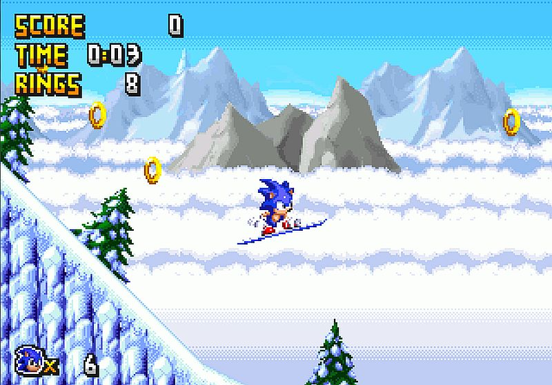 Indie Retro News Sonic 3d In 2d A New Pc Fangame That Re