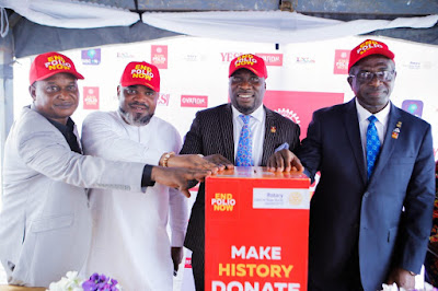 Rotary Club Of Ikeja South Partners Old English ,IDCL For Polio Eradication