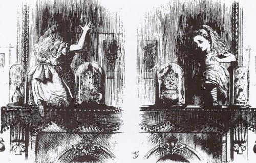 Oggettistica artigianale e riflessioni 049 davanti allo specchio - Alice dentro lo specchio ...