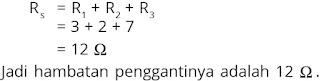Jawaban soal fisika tentang listrik dinamis nomor 6