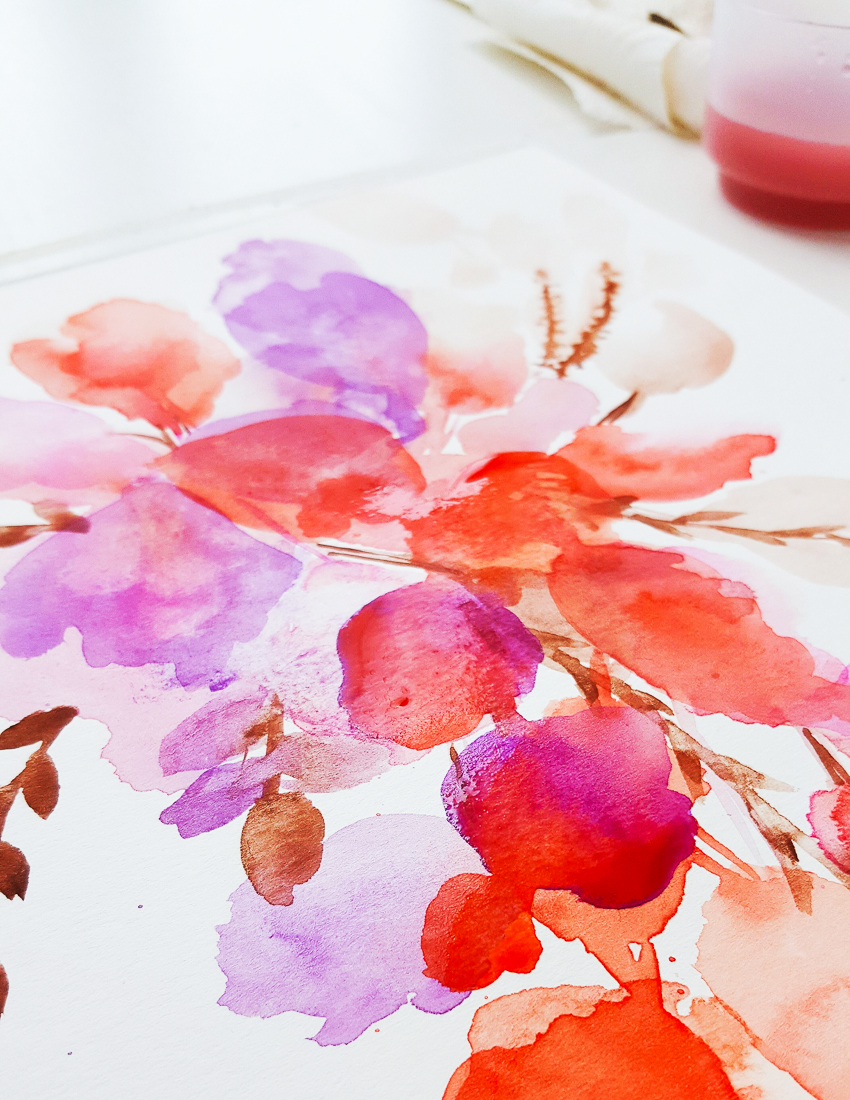 Blumenbouquet in Aquarell