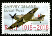 Canvey Local Post RAF Centenary Hurricane Stamp