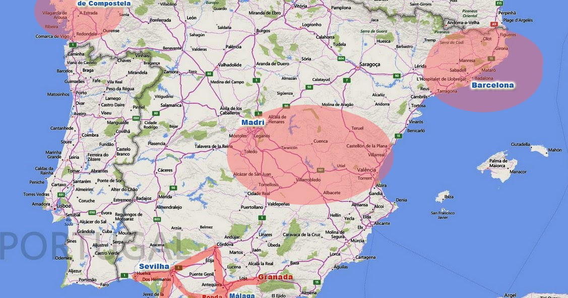 mapa espanha girona Cidades e Roteiro na Espanha mapa espanha girona