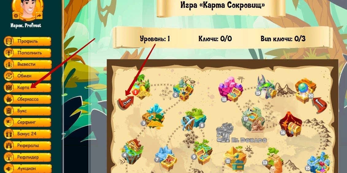 Участия в игре Карта сокровищ в Кладоискателях