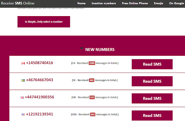 Online Telephone Number for Call Receive