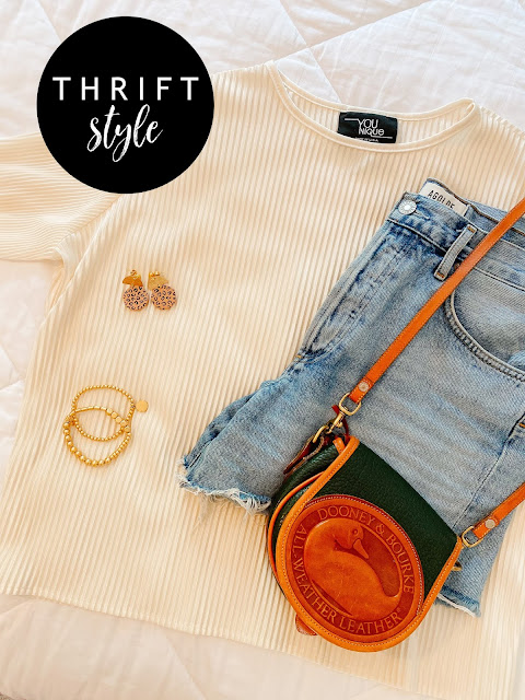 thrift style, mom style, goodwill outfit, thrifting, nc blogger, style on a budget