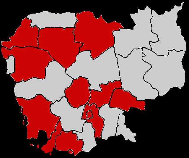 Map - COVID-19 Cases in Cambodia