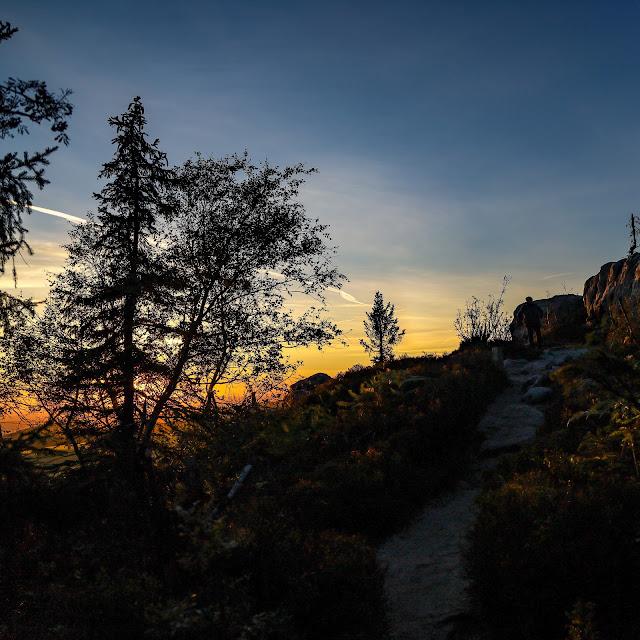 góry stołowe, narożnik, zachód słońca