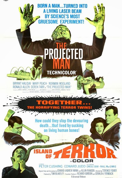 Poster for double-bill, The Projected Man and Island of Terror (1966)