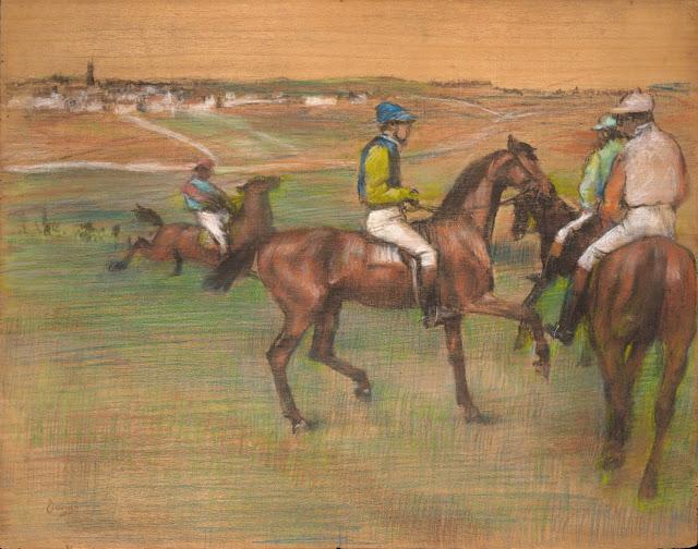 Эдгар Дега - Скаковые лошади (1885-1888)