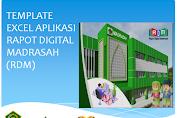 Template Excel Aplikasi Rapot Digital Madrasah (RDM)