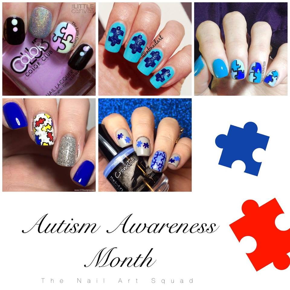 The One with the Puzzle Piece Manicure for The Nail Art Squad - The ...