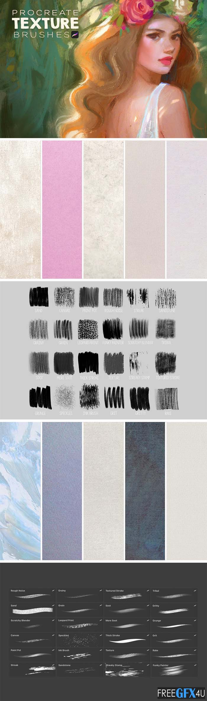 Procreate Texture Brush Set