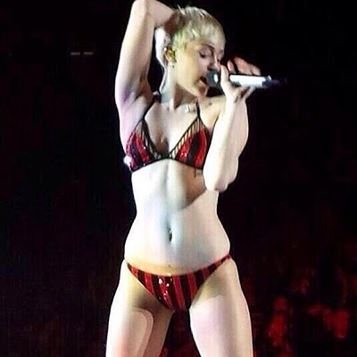 Miley Cyrus in underwear