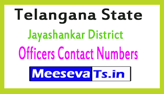 Jayashankar District Officers Contact Numbers In Telangana State