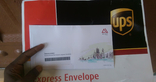 My ALAT ATM Card Delivered To My Doorstep via UPS Express