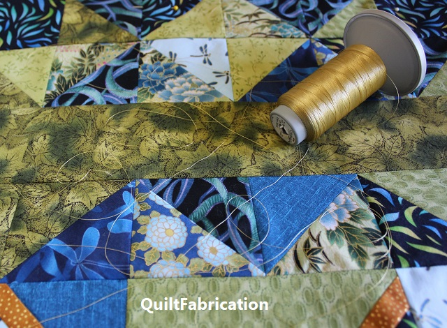 Use It Up quilt with Cleopatra Glide thread