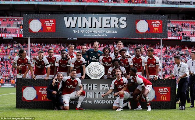 Arsenal đánh bại Chelsea giành Siêu Cúp nước Anh 3