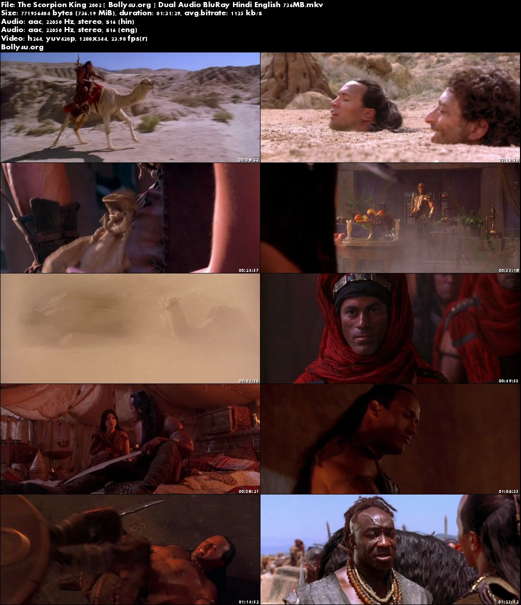 The Scorpion King 2002 BluRay 700MB Hindi Dual Audio 720p Download