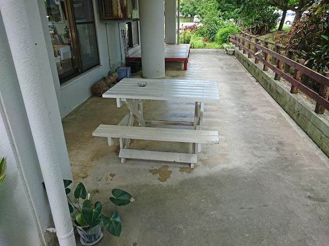 麺家にらいの喫煙席の写真