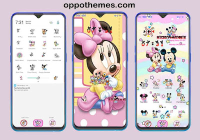 Mickey Minnie Theme For Oppo Realme Smartphone