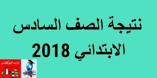 نتيجة الصف السادس الابتدائى 2018 التيرم الثاني محافظة القاهرة و محافظة الجيزة برقم الجلوس