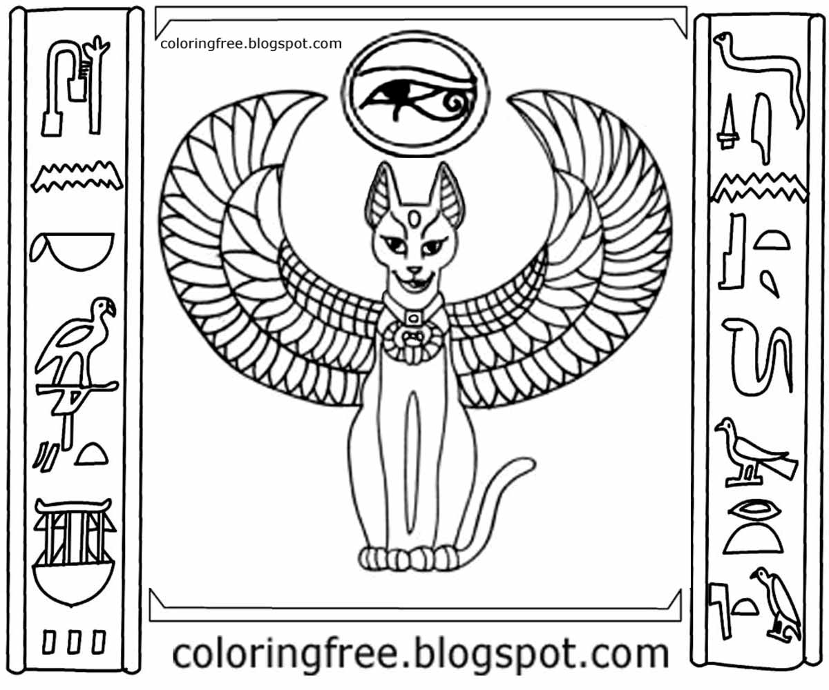 Free coloring pages printable pictures to color kids drawing ideas abu simbel temples ancient egyptian cat illustration primitive writing egypt hieroglyphs to color in buycottarizona Choice Image