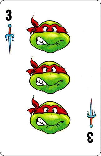 Baraja infantil Las Tortugas Ninja Fournier Carta Raphael 3
