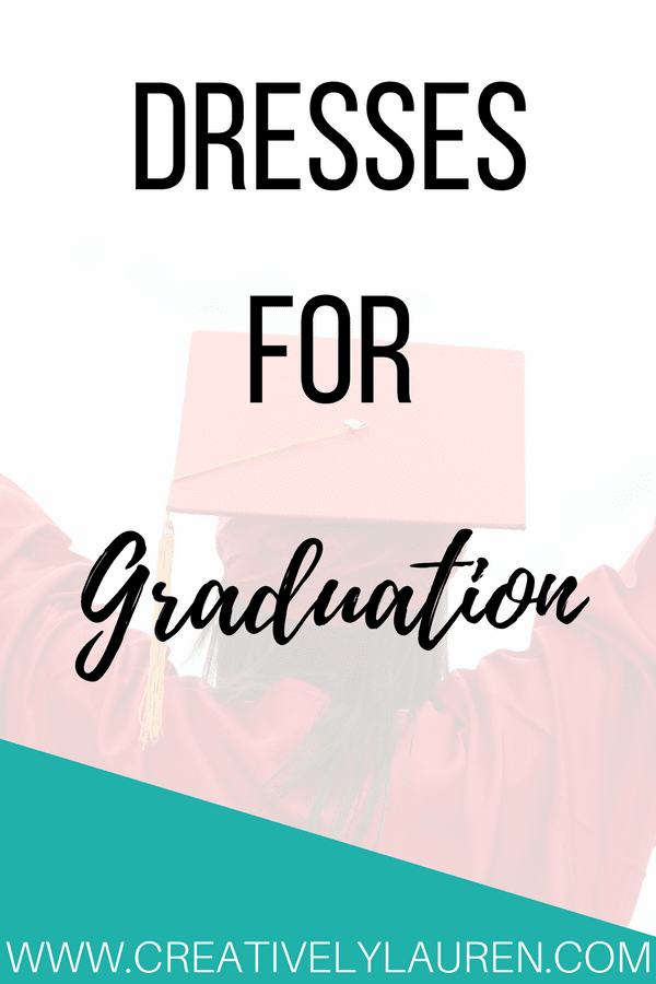 Graduation is around the corner and that means that it's time to look for the perfect graduation dress! I've rounded up some cute options for the big day!