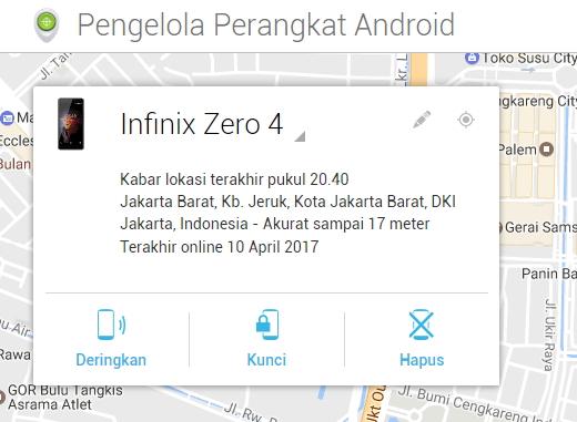 Cara Mencari HP Android yang Hilang
