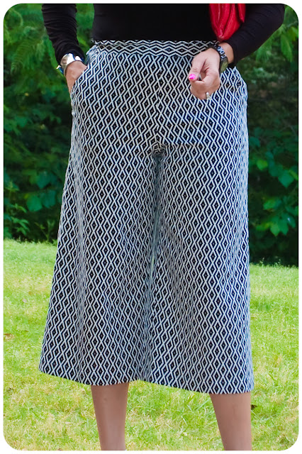 Erica B.'s - D.I.Y. Style!: Butterick 6183 - Tribal Print Culottes