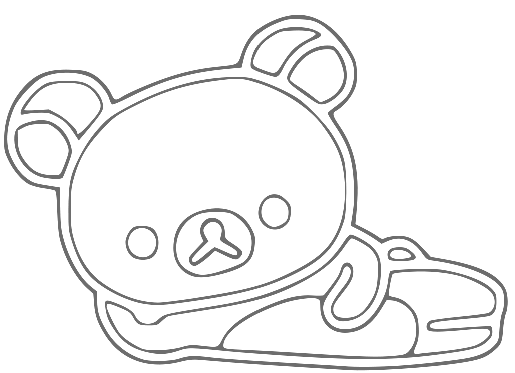 rilakkuma coloring pages rilakkuma free coloring pages