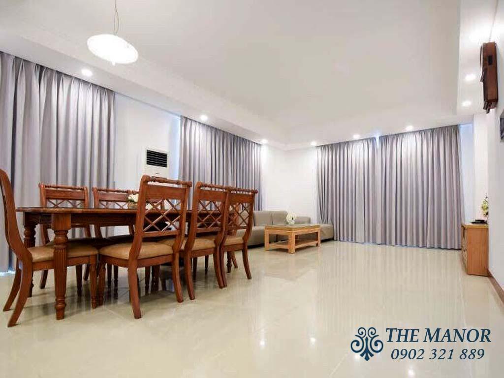 cho thuê căn hộ với 3 phòng ngủ khu The Manor 1 block AW 1400$/tháng - pic 2