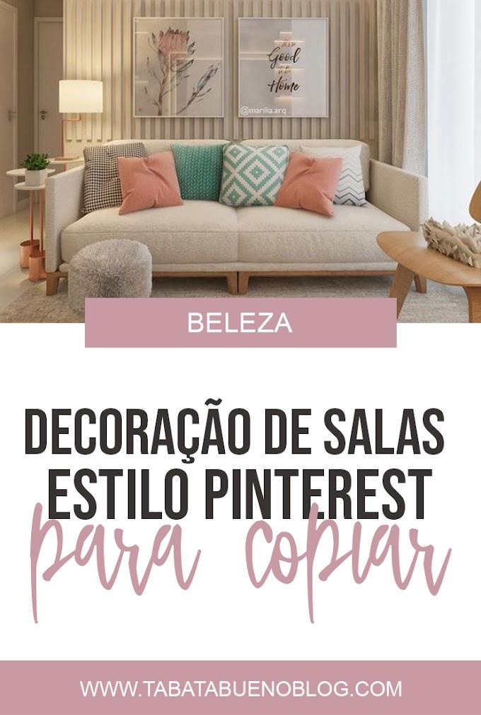 Decoração de sala com estilo Pinterest