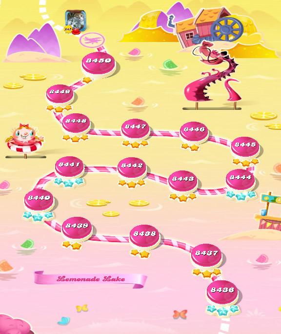 Candy Crush Saga level 8436-8450